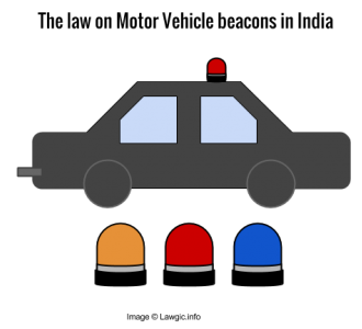 The law on motor vehicle beacons and flashers in India