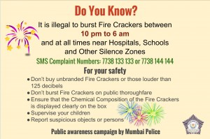 The law on bursting Fire Crackers in Mumbai, India